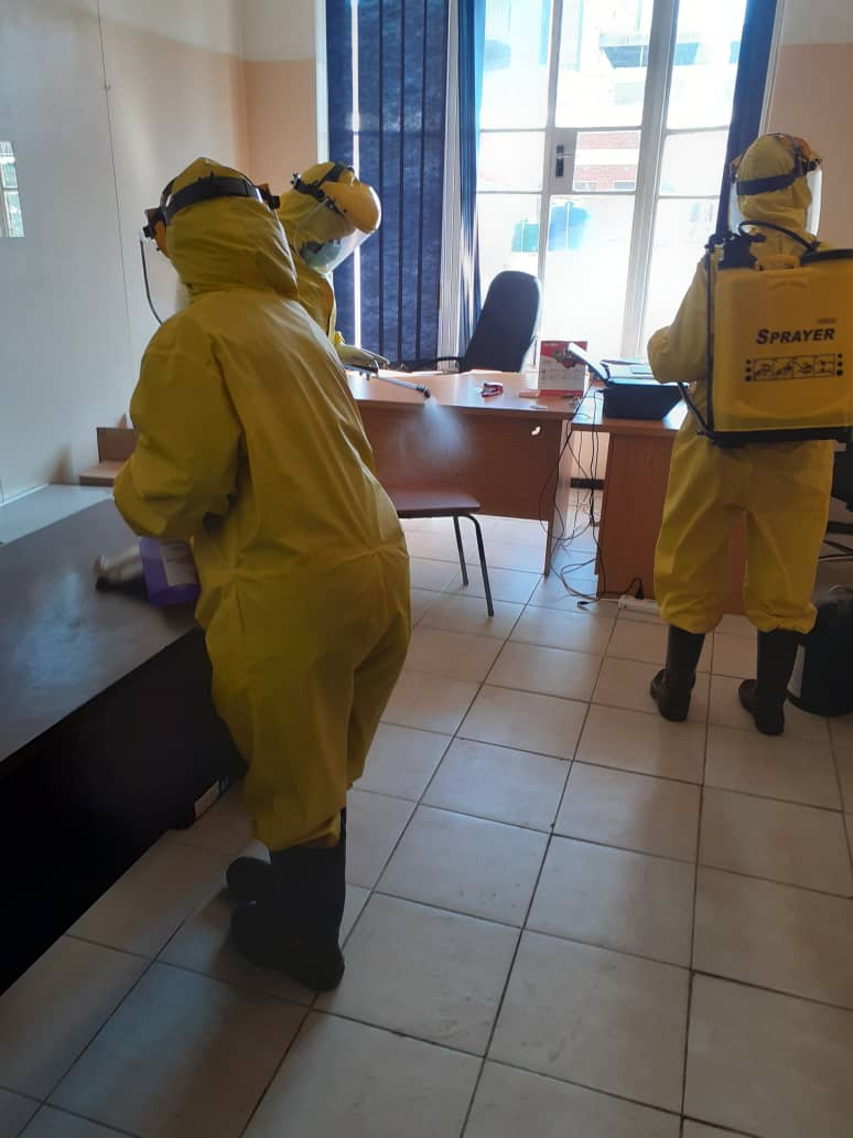 CAA office fumigation against covid – August 2020