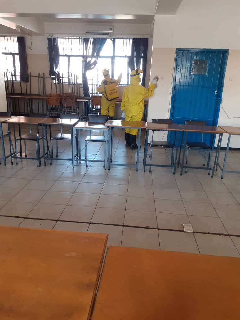 lecture rooms fumigation against Covid